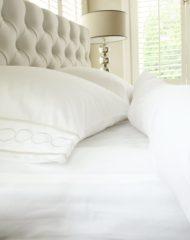 Witte Cottoncounts Long Island hoeslaken 80x200cm wit