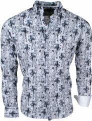 Zwarte Brentford and Son Jan paulsen heren design overhemd regular fit