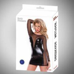 Zwarte Body Pleasure - Wetlook Lingerie - Tl121 - Sexy Dress - Super uitdagende Jurk - Chic ,strak en super sexy jurkje - Large size / Bigger Medium size - gave Cadeaubox - ideaal om te geven of te ontvangen