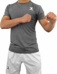 Zomer-taekwondopak (dobok) JC | antracietgrijs-wit | 150