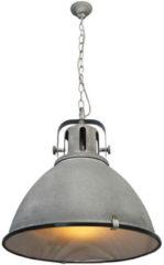 Bruine CentralLight Industriële hanglamp 'Jesper' Roest XL industrieel vintage E27 480mm