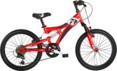 "MBM Mountainbike INDY 24"" 18-Gang Rot-Schwarz"