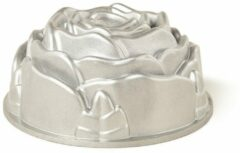 Zilveren Nordic Ware Rose Bundt tulband bakvorm 23 cm