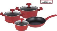 Michelino RVS pannenset 7 delig rood