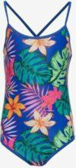 Osaga meisjes badpak met bloemenprint - Blauw - Maat 164