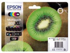 Epson Multipack 202XL - 5 - hoge capaciteit - zwart, geel, cyaan, magenta, fotozwart - origineel - inktcartridge (C13T02G74010)