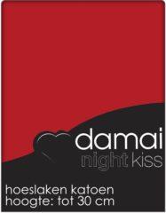 Rode Damai Hoeslaken Rood (Katoen)-140 x 200 cm