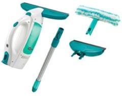 Groene Leifheit 51016 Dry & Clean Raamzuiger met Steel + Smalle Zuigmond en Inwasser