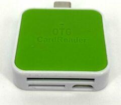 OTG-Smart USB-C Cardreader SD kaart Groen - Android Cardreader - Mico SD kaart geheugenkaartlezer - Klein Compact Formaat - Met Extra Micro USB aansluiting - Leest en schrijft SD Kaart en/of Micro SD (Hoge Capaciteit)