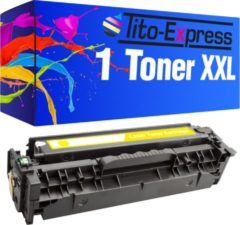 Gele Tito-Express PlatinumSerie 1 Toner XL PlatinumSerie Yellow voor HP CE412A Laserjet Pro 300 Color M351A 300 Color MFP M375NW 400 Color M451DN 400 Color M451DW 400 Color M451NW 400 M475DN 400 M475DW