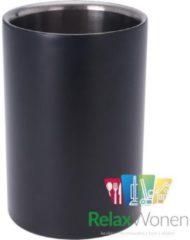 Merkloos / Sans marque Wijnkoeler van RVS | Mat zwart | Drankkoeler