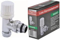 """GALVANO Wiesbaden Luxe Thermostatischevoorber.Vent.1/2"""" x 15 mm. - M22 Knel Haaks - Chroom"""