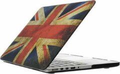 Macbook case van By Qubix - Retro UK flag - Pro 13 inch RETINA - Alleen geschikt voor de Macbook pro Retina 13 inch (Model nummer: A1425 / A1502) - Hoge kwaliteit macbook cover!