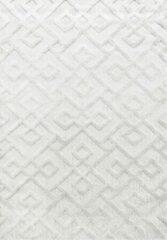 Creme witte Pisa Modern Design Vloerkleed Laagpolig Creme - 80x250 CM
