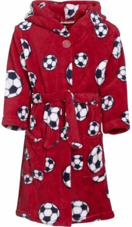 Afbeelding van Playshoes Rode badjas voetbal voor jongens 110/116 (5-6 jr)