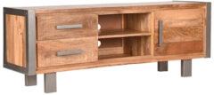 Label51 Tv-meubel-meubel Fabijzettafelory - Rough - Mangohout - 160 Cm