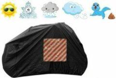 Bavepa Fietshoes Met Insteekvak Voor Markeringsbord Polyester Geschikt Voor Alpina Clubb 22 inch 2018 Meisjes Zwart Inclusief Bevestigingshaken