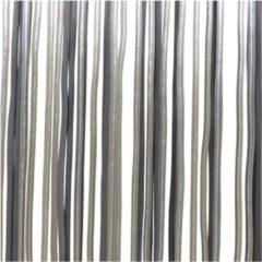 Lesliliving Lesli Living Spaghetti - Vliegengordijn - 100x230 cm - Grijs