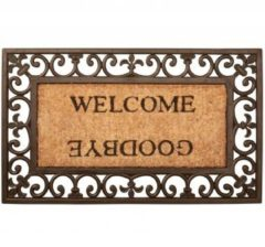 Bruine Esschert Design Deurmat Welcome/Goodbye rubber RB12