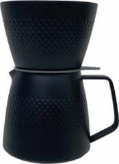 Koffie Dripper & Server Set Dubbelwandig RVS V60 Filterkoffie - Pour Over - Barista - zwart - Hario Style - brewgear.store - Vaderdag