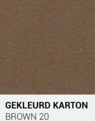 Bruine Gekleurdkarton notrakkarton Gekleurd karton brown 20 A4 270 gr.