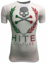 Hite Couture Matever Stretch Slim Fit T-Shirt - Wit - XL
