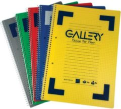 Rode Merkloos / Sans marque Gallery Traditional spiraalschrift formaat A4 gelijnd geassorteerde kleuren 160 bladzijden