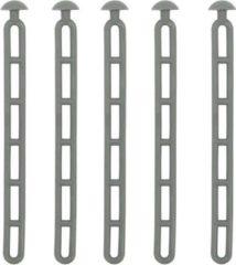 Grijze ProPlus trapspanner met knop 23,5 cm rubber set van 5 stuks