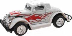 Toi Toys BV Hot Rod Auto Metal Pull Back (Wit) 9 cm Toi Toys - Modelauto - Schaalmodel - Model auto