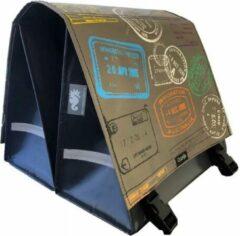 Bruine Clarijs World Travel Dubbele Fietstas 44 Liter