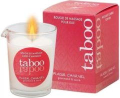 RUF TABOO CANDLE MASSAGE WOMAN PLAISIR CHARNEL SMELL CACACO FLOWER