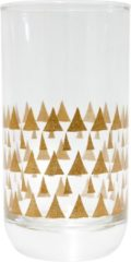 Transparante TAK Design Drinkglas - Triangle Patterns - 6,5 x 12,5 cm - Koper