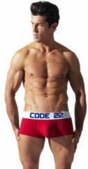 Rode Boxers Code 22 Boxersport volledige frontcode22