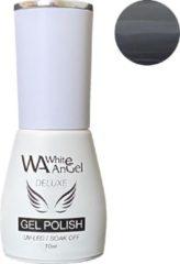 Grijze Gellex White Angel Gellex Deluxe Gel Polish, gellak, gel nagellak, shellac - Charcoal 130