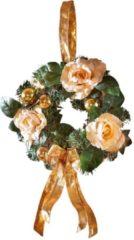 Wandkranz mit Rosen Tewa creme/gold