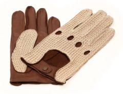 Beige Laimböck Denver Dames Crochet Autohandschoenen met hele vingers - Maat 8