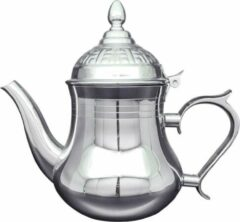 Zilveren Hakal Line Marokkaanse Arabische theepot rvs 1.8 L