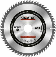 Kreator KRT020419 Zaagblad hout 200 mm - 60T
