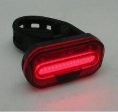 Merkloos / Sans marque 1x Fietsachterlicht / achterlicht COB LED - 2x knoopcelbatterijen CR2032 - zadelpen / frame bevestiging - batterij achterlamp - fietsverlichting / achterlichten