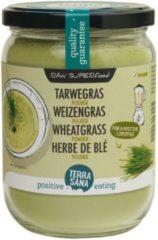 Terrasana Raw tarwegras poeder in glas 130 Gram