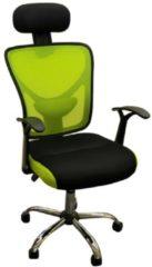 Drehstuhl mit Kopfstütze Silas HTI-Living Grün, Schwarz