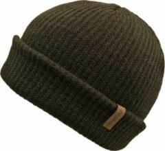 Donkerbruine Basic Muts Bruin - Bruine Beanie - Wakefield Headwear - Mutsen