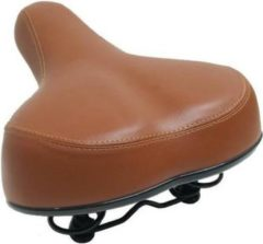 Comfortabele fietszadel bruin met extra grote zitvlak - gel vulling - universeel - zadels