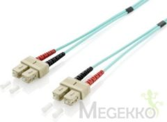 Groene Equip SC/SC 50/125μm 20m 20m SC SC OM3 Turkoois Glasvezel kabel