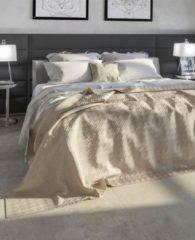 Zandkleurige Heckettlane Bedsprei Sachi - 270x260 cm - Sand