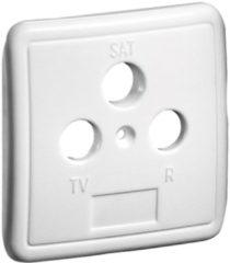 Befestigung/Montage 3-Loch Abdeckung für Antennendosen Goobay Weiß