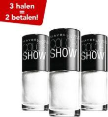 Witte Maybelline Color Show Nagellak - 19 Marshmallow - 3 Halen = 2 betalen!