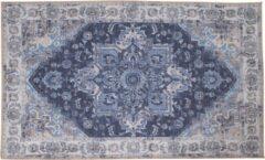 Hioshop Hawai vloerkleed 160x230 cm blauw.