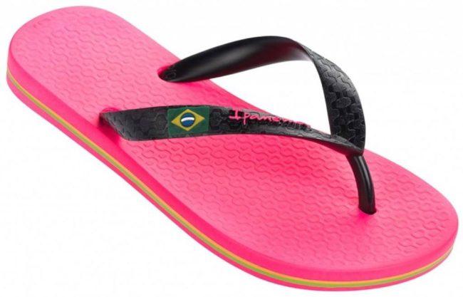 Afbeelding van Ipanema Classic Brasil II Slippers - Maat 38 - Meisjes - roze/zwart