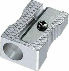 Zilveren Jumalu puntenslijper 1-gaats - metaal - 2 stuks